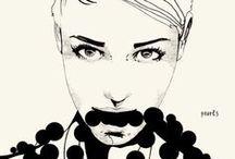 Meninas ilustradas / Duas paixões juntas aqui, moda e ilustração.
