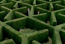 Mazes : All those who wander in mazes are lost / Snow, ice, glass, water, hedge, paper, wood, light. Anything maze goes. Trying to find every unusual or great example of a maze.