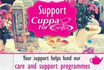 Cuppa For CANSA / Host a Cuppa For CANSA to help raise funds for Holistic Care & Support to those affected by cancer.
