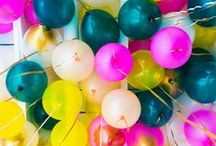 Celebrate! / - Parties - Celebrations - Birthdays - Decorations - Garland - Balloons - Cakes -  / by Valerie Cochran