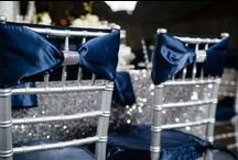 Navy Sparkle   Wedding Inspiration / With a chilly nib in the air, the winter wedding season is approaching.  Winter weddings can be every bit as elegant and sophisticated as summer wedding weddings. To accentuate the darker days and glistening of snowflakes, opt for sparkle and shimmer in a spectrum of silver navy blue shades.