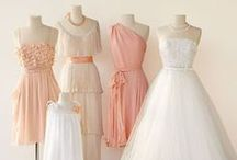 Just Peachy   Wedding Inspiration / Peach-themed weddings are is soft, sensual and sweet. It creates an ideal fruity and feminine ambiance when hosting your big day in the early stages of spring. Gold, ivory and silver accents will sparkle up your romantic, peachy colour palette to perfection. For a late, hot-summer wedding you can also add cool mint and bright orange hues. Peach is a very versatile colour that can be incorporated in many of your wedding elements – from your bridesmaids' dresses to your confectionery.