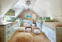 Bunk room ideas / We will most likely never have a bunk room in our house but I think they look fun!