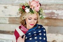 USA   Wedding Inspiration / A gathering of family & friends with great cuisine, popping bottles & fireworks colouring the midnight sky… we are talking Fourth of July! This patriotic wedding theme consists of a traditional red, white & blue colour palette with accents of stars & stripes. Independence Day is full of sparkling wedding inspiration as well as fun DIY ideas and even in true Fourth of July spirit, your wedding can be as chic & elegant as ever.