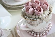 Tea Time   Wedding Inspiration / A classic garden tea party is a lovely idea for hosting an elegant bridal shower, but also makes for a wonderful outdoor spring wedding-theme. Mix them, match them, fill them and stack them – vintage tea cups are super versatile and inexpensive too. They make gorgeous centrepieces when filled with florals and be gifted as wedding favours for your guests. Opt for a soft, lady-like colour palette with romantic pastels and add to the femininity with sweet little touches and delicious treats.