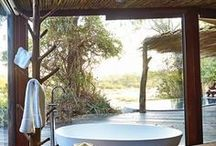 Bathrooms with a View / Imagine soaking in the tub with a stunning view!
