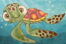 Trouble Travel Turtle / Photo Exercises with Nemo's Turtle. Fun!
