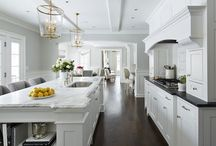 Handsome Kitchens & Dining Rooms / Marble kitchen, soapstone sinks, farmhouse sinks, modern kitchen, modern farmhouse kitchen country kitchen French country kitchen, industrial kitchen, reclaimed wood floors, white kitchens, tile work, Spanish kitchen, kitchen island, brass sinks, brass faucet, chrome fixtures. / by Don Malot
