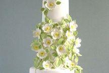 Wedding flowers cake/Цветочные свадебные торты