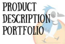 Portfolio Product Descriptions / This is my Product Description Portfolio. For Product Descriptions I've written for Fashion, Children's Clothing, Jewellery, Interior Design, Garden and Household Items.
