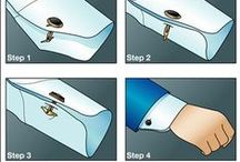 Cufflinks: Tips & Advice / Tips, insight, and more on cufflinks for men.