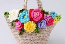 kabelky a tašky / pletené a háčkované kabelky, tašky a jiné..