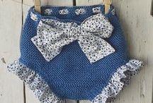 kalhotky- body / pletené a háčkované kalhotky a body  pro miminka a děti
