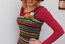 šaty - sukně / pletené a háčkované