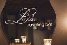 Lavish Traveling Bar / Our in-house specialty bar program is designed to make your event go smoothly, with hassle-free planning and lots of custom & house packages to choose from.