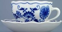 modrý porcelain / Czech porcelain, modrý porcelán