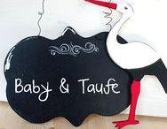 Baby & Taufe ★ Basteln ★ Deko ★ Schenken / Kreatives rund um das Thema Baby - Taufe - Geburt - Geschenke zur Geburt - Basteln Baby ★ www.kreativzauber.de