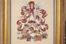 Christmas/winter angels & fairies x stitch