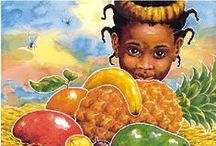Handa Surprise Story Board - Five Star Family Day Care Maitland / Handa Surprise was our story of the month in June 2015.  Handa puts seven delicious fruits in a basket to take to her friend, Akeyo. But as she walks, carrying the basket on her head, various creatures steal her fruits.