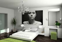Go BIG or Go Home / Decor and design featuring oversized and custom art. Beautiful spaces featuring large dramatic art. #homedecor #wallart #largeart #oversizedart