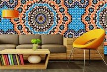 Funky and Fabulous African Home Designs / Organic textures, rich colours and exotic patterns