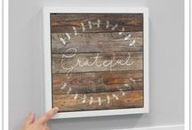 """Wall Art: Home Decor / Beautifully disguised as artwork, these hidden dry erase boards serve as a fun way to connect with loved ones. Write a special note on the message board to your spouse, children, and others, as a sweet secret just between you.  12""""x12""""x1"""" boards with dry erase marker included. Hangs on wall with two attachment points.  Shop thinkpraygift.com for unique home decor."""
