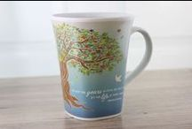 Color Changing Mugs / Each mug starts as a solid color with a powerful quote and artwork. As soon as you add hot water you see the story unfold as the artwork transitions! High quality porcelain, 16 oz, unique shape!