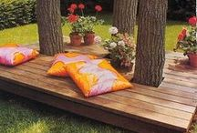 Backyard Decor ~ A Private Playground / Innovative ideas for decorating, maintaining and adding to your backyard. DYI ideas and tips for making your backyard the perfect place to relax as well as gardening and planting ideas for landscaping.