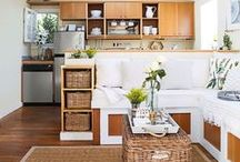 Small Space Decor Ideas - Small But Fierce / Small space decorating and organizing solutions for apartments, shared spaces, micro-houses and more.  Great ideas for innovative ways to use every inch of space available.