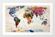 International & Travel Decor ~ Ideas to Satisfy Your Wanderlust / Fun decorating ideas from across the globe. Room decor and home projects to quench your wanderlust and help the travel lover feel at home.