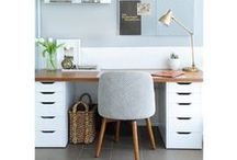 Home Office Decor ~ Get Styled & Organized / Decorating ideas and storage solutions for home office areas or work stations.
