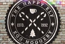 The Happy Elf Egg Noggery / Find out what's going on at the North Pole's fav egg nog café! (part of the 2015 HSW holiday promo campaign at northpolereindeer.com)