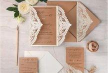 wedding papeterie / Dir fehlt die Idee für schöne Hochzeitseinladungen? Dann lasse dich hier inspirieren.