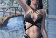 AHC Webcomic - B01C08 (ger) / Webcomic - Buch 01, Kapitel 08: Ein Comic, welcher im Shadowrun-Universum angesiedelt ist. Primäre Akteure in diesem Comic sind die 3 Runnerinnen Eclipse, Headshot & Nia, welche in den Schatten von Seattle ihre Arbeit verrichten. Die Erzählung beginnt im Jahre 2064 kurz vor dem Crash2.0 und führt die Geschichte der 3 Runnerinnen fort. Der Comic beleuchtet zwar primär einen Teil des erotischen Alltagslebens der Hauptcharaktere, erzählt aber auch von ihren Abenteuern in den Schatten des Megaplex.