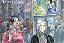 AHC Webcomic - A walk down memory lane - Teil 1 (ger) / Webcomic - Buch 01, Spezial 01: Ein Comic, welcher im Shadowrun-Universum angesiedelt ist. Primäre Akteure in diesem Comic sind die 3 Runnerinnen Eclipse, Headshot & Nia, welche in den Schatten von Seattle ihre Arbeit verrichten. Die Erzählung beginnt im Jahre 2064 kurz vor dem Crash2.0 und führt die Geschichte der 3 Runnerinnen fort. Der Comic beleuchtet zwar primär einen Teil des erotischen Alltagslebens der Hauptcharaktere, erzählt aber auch von ihren Abenteuern in den Schatten des Megaplex.