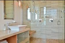 Bathroom Bliss / it's all about the finishing touch - glass!