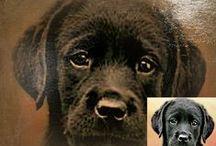 Custom oil dog paintings / Custom digital oil dog paintings.