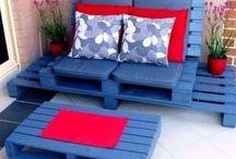 Terrazas/ Pallets / Ideas con material reciclado