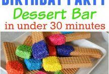 Kids birthday party treats
