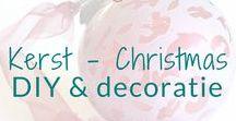 Kerst - Christmas - DIY & decoratie / Knutselen en decoratie ideeën rond het thema Kerst. Christmas DIY's and decoration ideas. BMelloW.nl