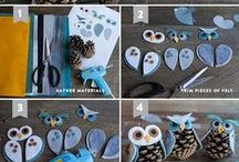 10+easy / owl ornaments / My favorite top 10 easy DIY owl Christmas ornaments