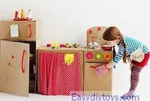 10+easy / cardboard DIY toys / 10 homemade cardboard toys for your kids