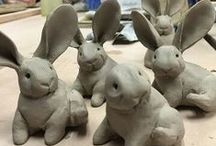 """Clay for Youngsters / Ideas and techniques for Junior Art Club """"Enchanted Forest"""" clay animals"""