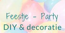 Feestje - Party - DIY & decoratie / Feestje, Super leuke DIY decoratie ideeën voor een te gek doe het zelf feestje. Veel verschillende leuke feest thema's. - Party time. Decoration ideas.  BMelloW.nl