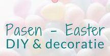 Pasen - Easter - DIY & decoratie / Pasen.  Knutselen en decoratie ideeën. BMelloW.nl.  Easter DIY's and decoration ideas. BMelloW.nl
