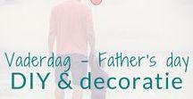 Vaderdag - Father's day - DIY & decoratie / Vaderdag. Super leuke knutsel en decoratie ideeën.  Father's day DIY's and decoration ideas. BMelloW.nl