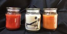 "New line of fall scented fitness themed candles / Check out our new fall candle series:  Great to give as a gift or get one for yourself   18 Oz  6"" Height x 12"" Diameter  Available in three fall scents, Simply Gardenia, Pumpkin Pie and Pumpkin Sugar Cookie"
