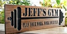 GYM SIGN for your home gym /  GYM SIGNS for your home gym