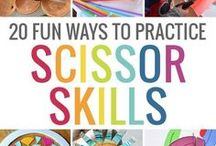 Fine Motor Skill Activities / Scissor crafts, sewing, and projects related to fine motor skills are all here for your child.