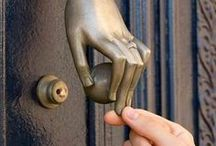 Exterior Door Knockers /  Matthew 7:7 - Ask, and it shall be given you; seek, and ye shall find; knock, and it shall be opened unto you:   / by Nancy Lena